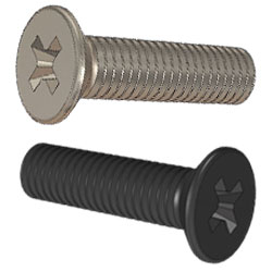 000-086-004 - Standard Enclosure Screws - Recessed Pozi Drive, Countersink Head