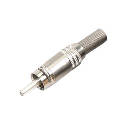 330-0000 - Professional Phono Plug Nickel Shell
