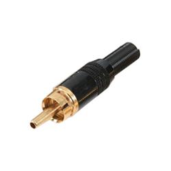332-0000 - Professional Phono Plug Black Chrome Shell