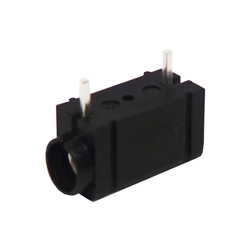 571-0100 - 4mm 90deg PCB Mounted Insulated Socket - Single