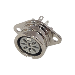 593-0800 - 8 Pin Ring Lock Din Connector Chassis Socket