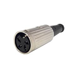 600-0400 - 4 Pin Din Line Socket Nickel Shell