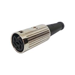 600-0510 - 5 Pin 60° Din Line Socket Nickel Shell