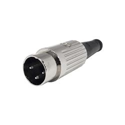 610-0300 - 3 Pin Standard DIN Plug Nickel Shell