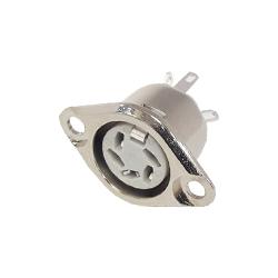 630-0510 - 5 Pin 60° Flanged Panel Socket Nickel Shell