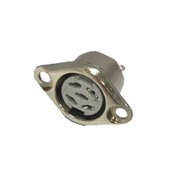 630-0520 - 5 Pin Dice Flanged Panel Socket Nickel Shell