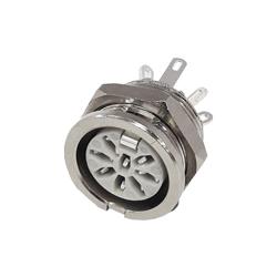650-0800 - 8 Pin Circular Panel Socket Nickel Shell