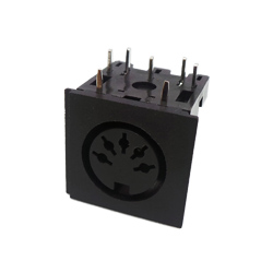 671-0501 - 5 Pin 45° Din Socket Black Shell