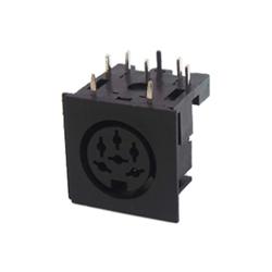 671-0601 - 6 Pin Din Socket Black Shell