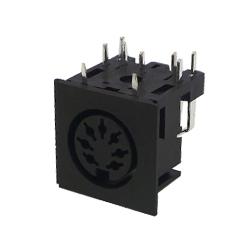 671-0701 - 7 Pin Din Socket Black Shell