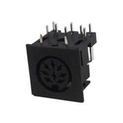 671-0801 - 8 Pin Din Socket Black Shell