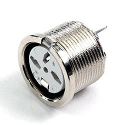690-0520 - 5 Pin Dice Circular PCB Mounting Slot Nickel Shell