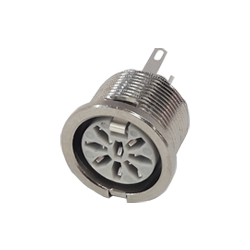 690-0800 - 8 Pin Circular Panel Socket Nickel Shell