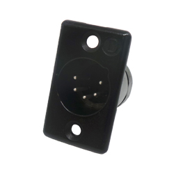 711-0500 - 5 Pin Male Panel Mount Black Shell Panel Plug