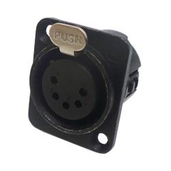 724-0500 - 5 Pin Female Universal Panel Mount Black Shell Panel Socket
