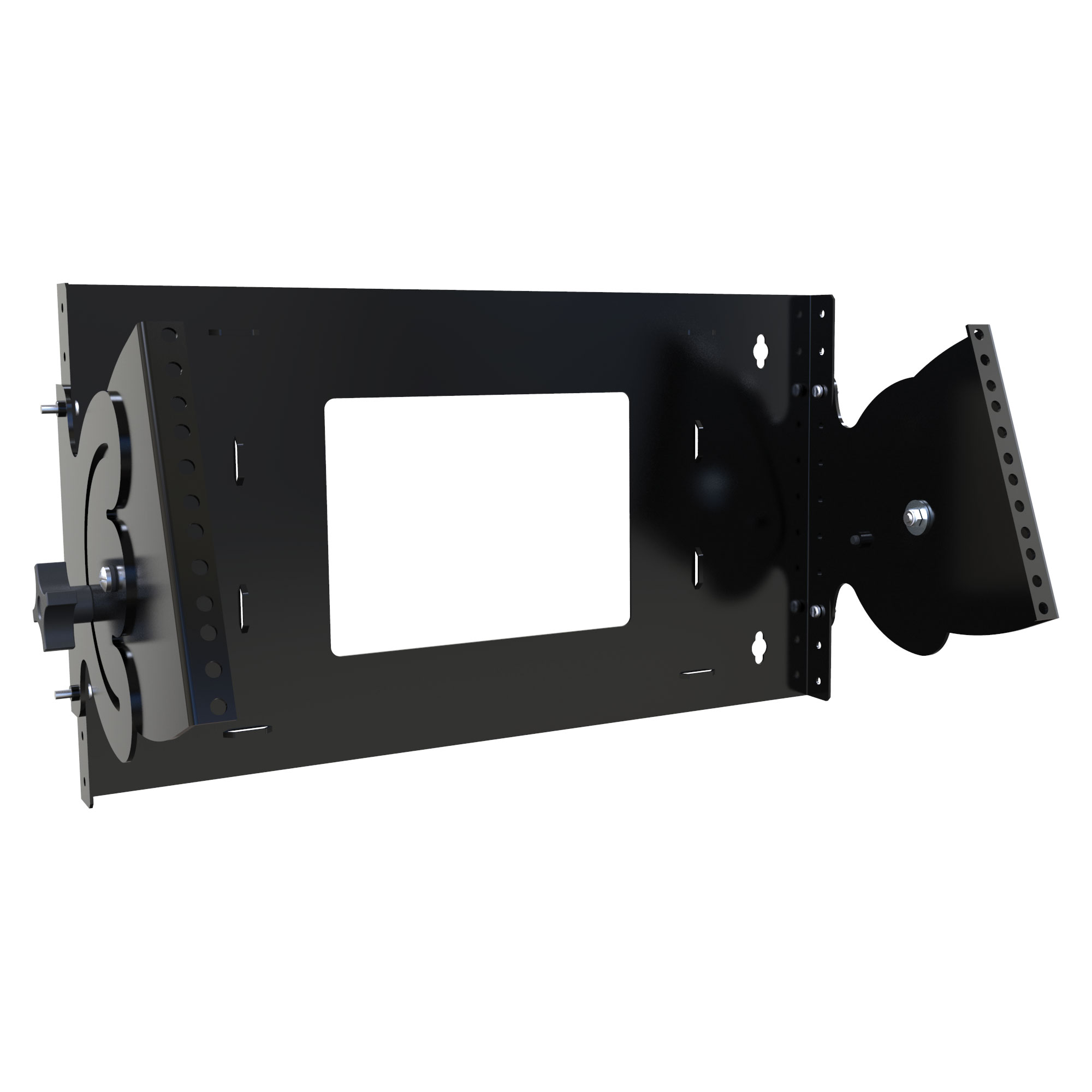 HLPB196UBK - HLPB Series Pivoiting Rail Wall Rack