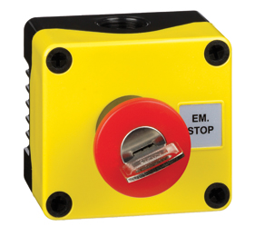 1DE.01.03AB - Control Stations Enclosure with a Emergency Stop key release
