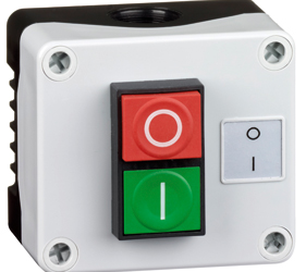1DE.01.10AB - Control Stations Enclosure with a Double Push Button - Start/Stop (O/I)