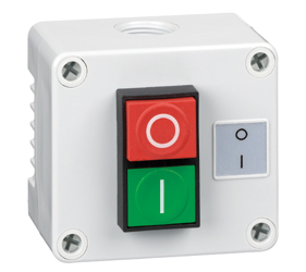 1DE.01.10AG - Control Stations Enclosure with a Double Push Button - Start/Stop (O/I)