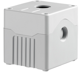 DE01D-A-GG-1 - Control Station Enclosure with One Hole and a Deep Base