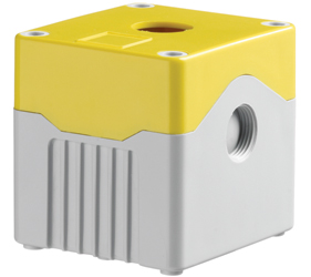 DE01D-A-YG-1 - Control Station Enclosure with One Hole and a Deep Base