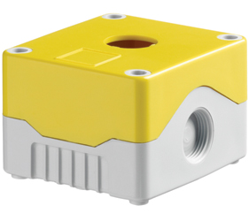 DE01S-A-YG-1 - Control Station Enclosure with One Hole and a Standard Base