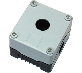 DE01S-P-GB-1 - Control Station Enclosure with One Hole and a Standard Base