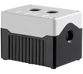 DE02D-A-GB-2 - Control Station Enclosure with Two Holes and a Deep Base