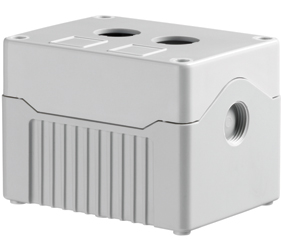 DE02D-A-GG-2 - Control Station Enclosure with Two Holes and a Deep Base