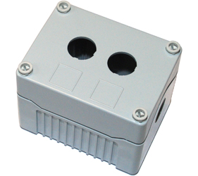 DE02D-P-GG-2 - Control Station Enclosure with Two Holes and a Deep Base