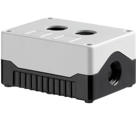 DE02S-A-GB-2 - Control Station Enclosure with Two Holes and a Standard Base