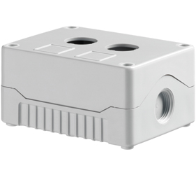 DE02S-A-GG-2 - Control Station Enclosure with Two Holes and a Standard Base