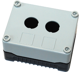 DE02S-P-GB-2 - Control Station Enclosure with Two Holes and a Standard Base