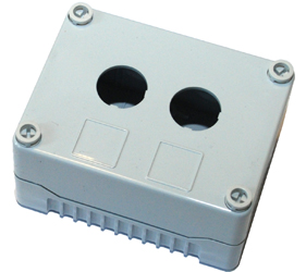 DE02S-P-GG-2 - Control Station Enclosure with Two Holes and a Standard Base