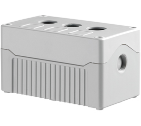 DE03D-A-GG-3 - Control Station Enclosure with Three Holes and a Deep Base