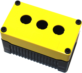 DE03D-A-YB-3 - Control Station Enclosure with Three Holes and a Deep Base