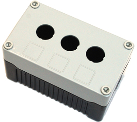 DE03D-P-GB-3 - Control Station Enclosure with Three Holes and a Deep Base