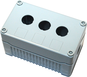 DE03D-P-GG-3 - Control Station Enclosure with Three Holes and a Deep Base