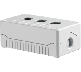 DE03S-A-GG-3 - Control Station Enclosure with Three Holes and a Standard Base