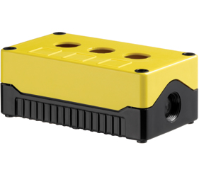 DE03S-A-YB-3 - Control Station Enclosure with Three Holes and a Standard Base