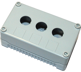 DE03S-P-GG-3 - Control Station Enclosure with Three Holes and a Standard Base