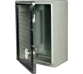 DED016 - DED Door Enclosure with a Transparent Door and 2 Locks