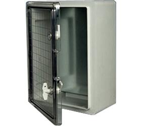 DED020 - DED Door Enclosure with a Transparent Door and 2 Locks