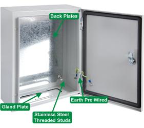 DEDS1000 - DEDS Steel Door Enclosure with a Solid Door and 2 Locks