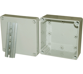 DN14E - DN Junction Box Enclosure with a 35mm Din Rail Section
