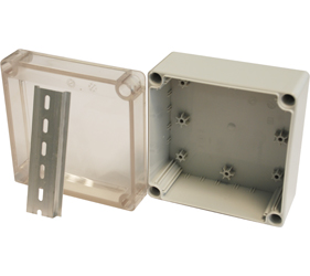 DN14T - DN Junction Box Enclosure with a 35mm Din Rail Section