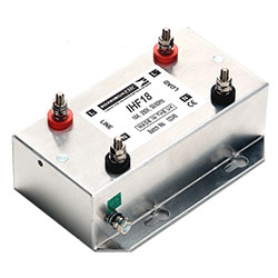 IHF18 - Single Phase Low Leakage Mains Filter - General Performance 18 Amps