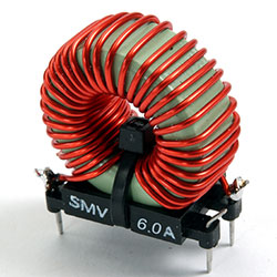 SMV60 - PCB Mounted Differential Mode Choke 6 Amps