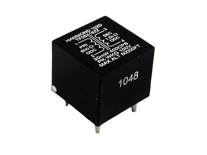102B - 102 Series Miniature Audio Epoxy Potted PC Board Mount